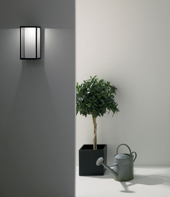 LED Black Exterior Wall Light H:320mm