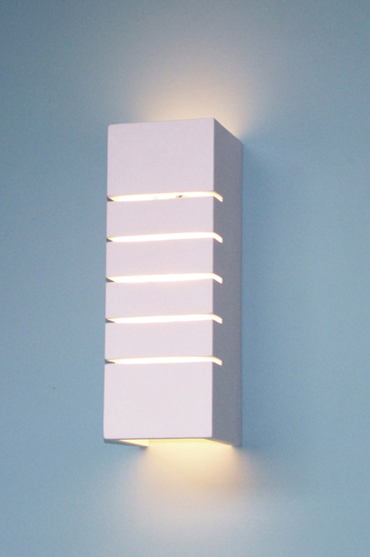 Up and Down Cut Plaster Wall Light