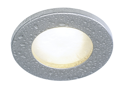 silver ip65 frosted glass downlight 12v