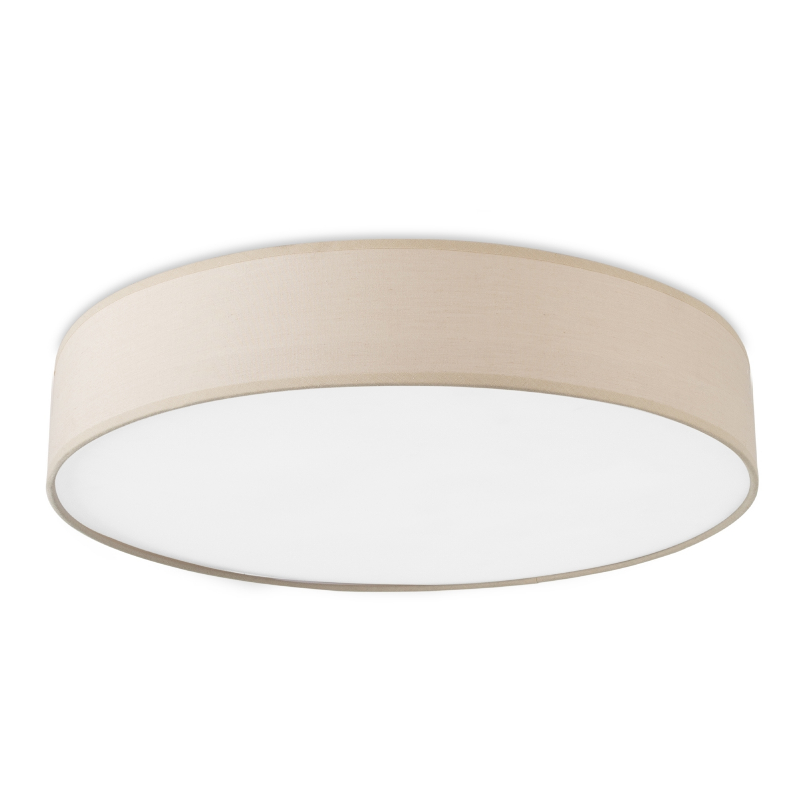 Beige flush drum light with led for Designer lighting