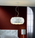 Pendant Light with Corrugated Detailing