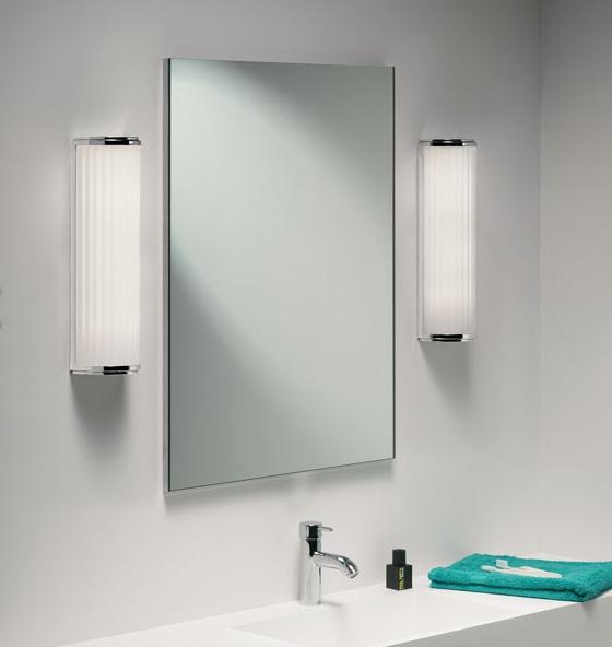 Wall Sconces Bathroom Mirror : Bathroom Wall Light - Polished Chrome