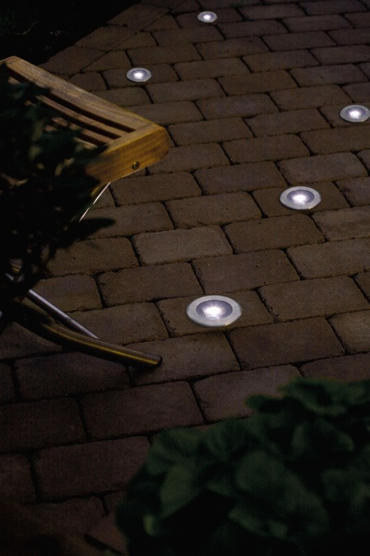 stainless steel solar deck light