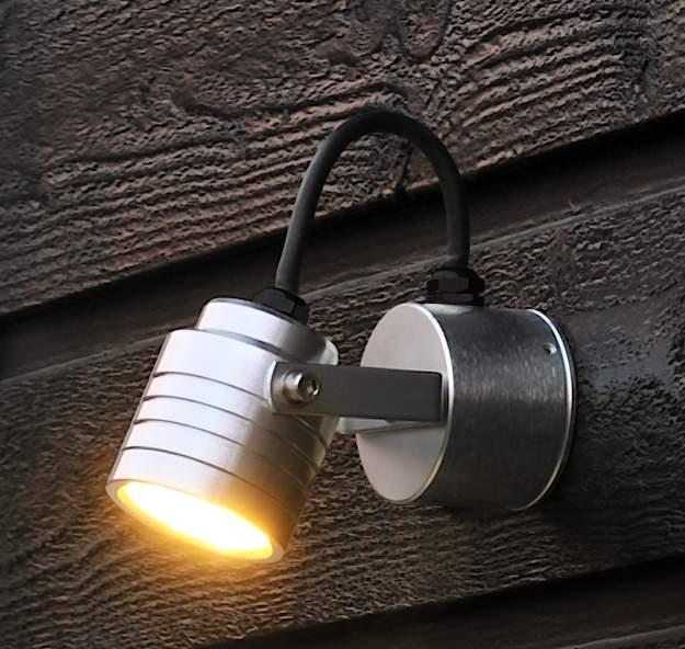 Led Wall Lights Garden : Adjustable Head LED Garden Wall Light
