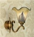 Feathered Glass Art Nouveau Wall Light