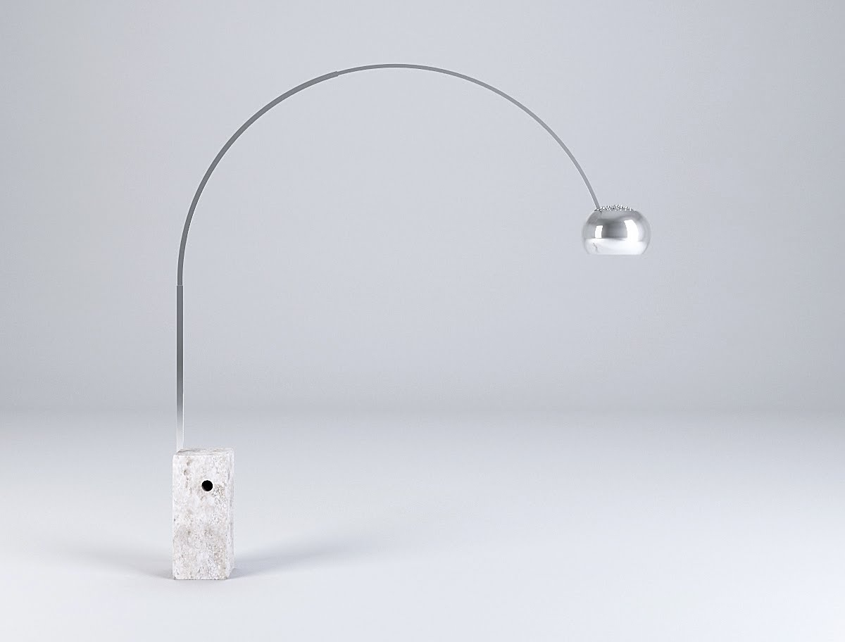 Arco Floor Lamp With Marble Base By Flos
