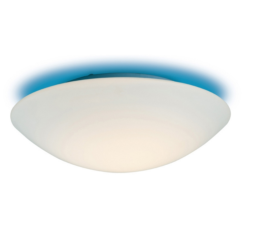 Flush Opal Glass Bathroom Light