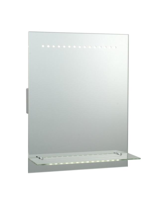 hand sensor led bathroom mirror with shelf. Black Bedroom Furniture Sets. Home Design Ideas