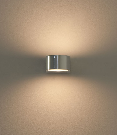 Wall Lamps For Bathrooms : Single Bathroom Up And Down Wall Light