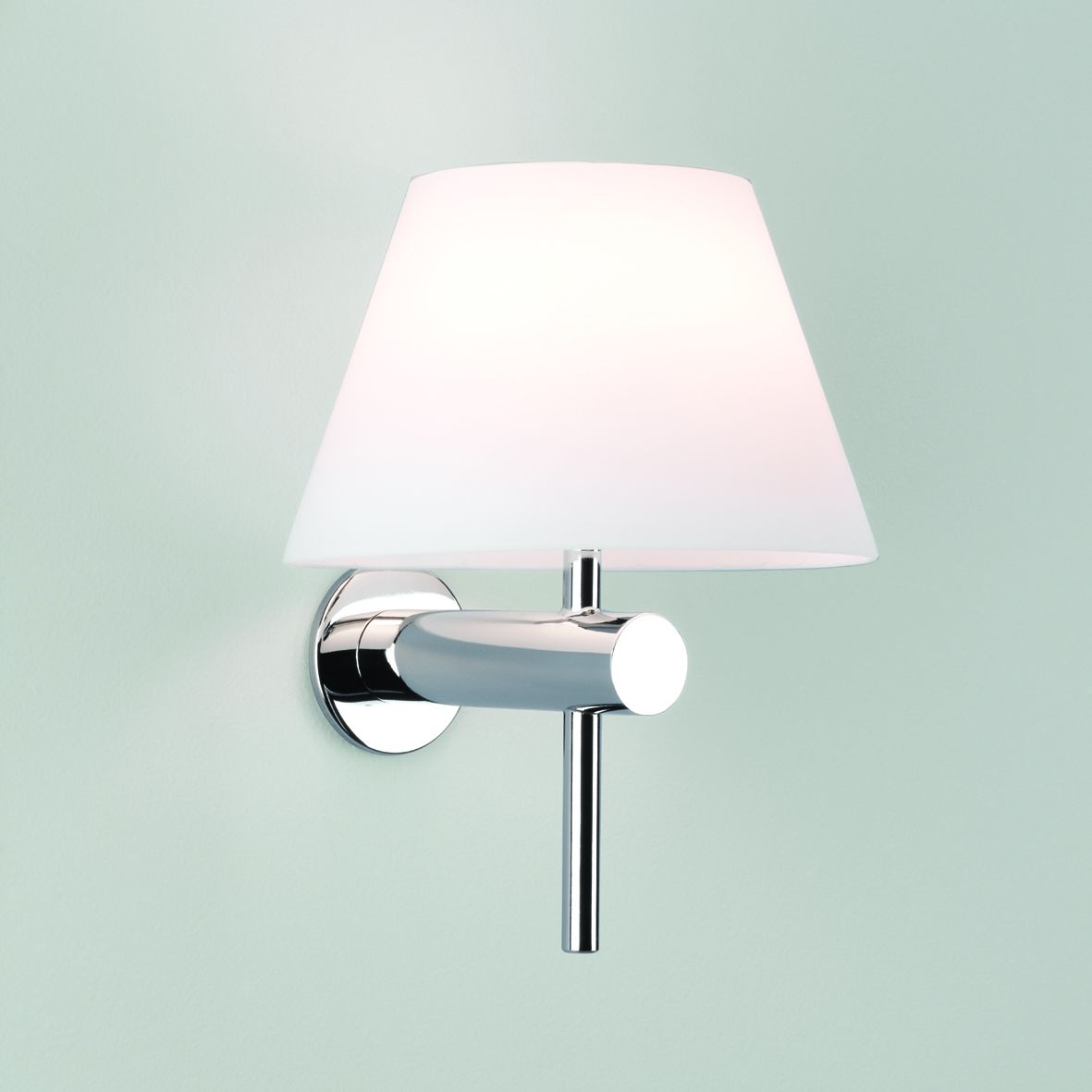 Small Wall Lamp Shades : Bathroom Wall Light With Coolie Shade