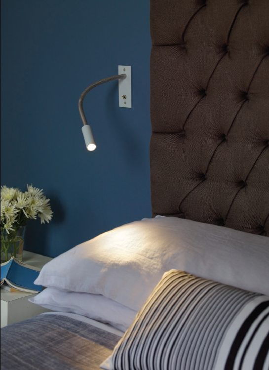 adjustable arm led bedside reading light