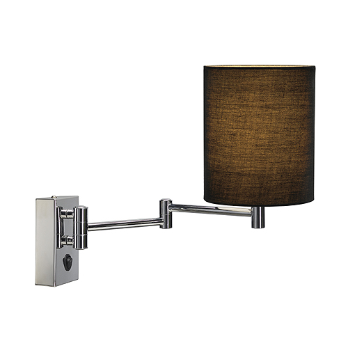 Traditional Extendable Wall Lamp with Shade