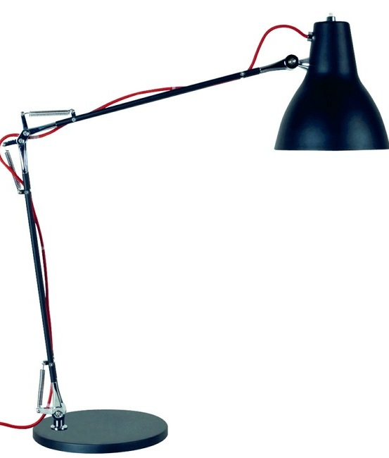 Black Swing Arm Table Lamp- Saving you �29.60