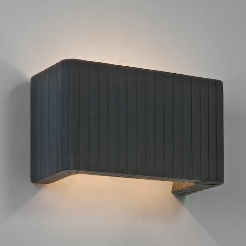 Modern Fabric Wall Lights : Pleated Fabric Interior Wall Light