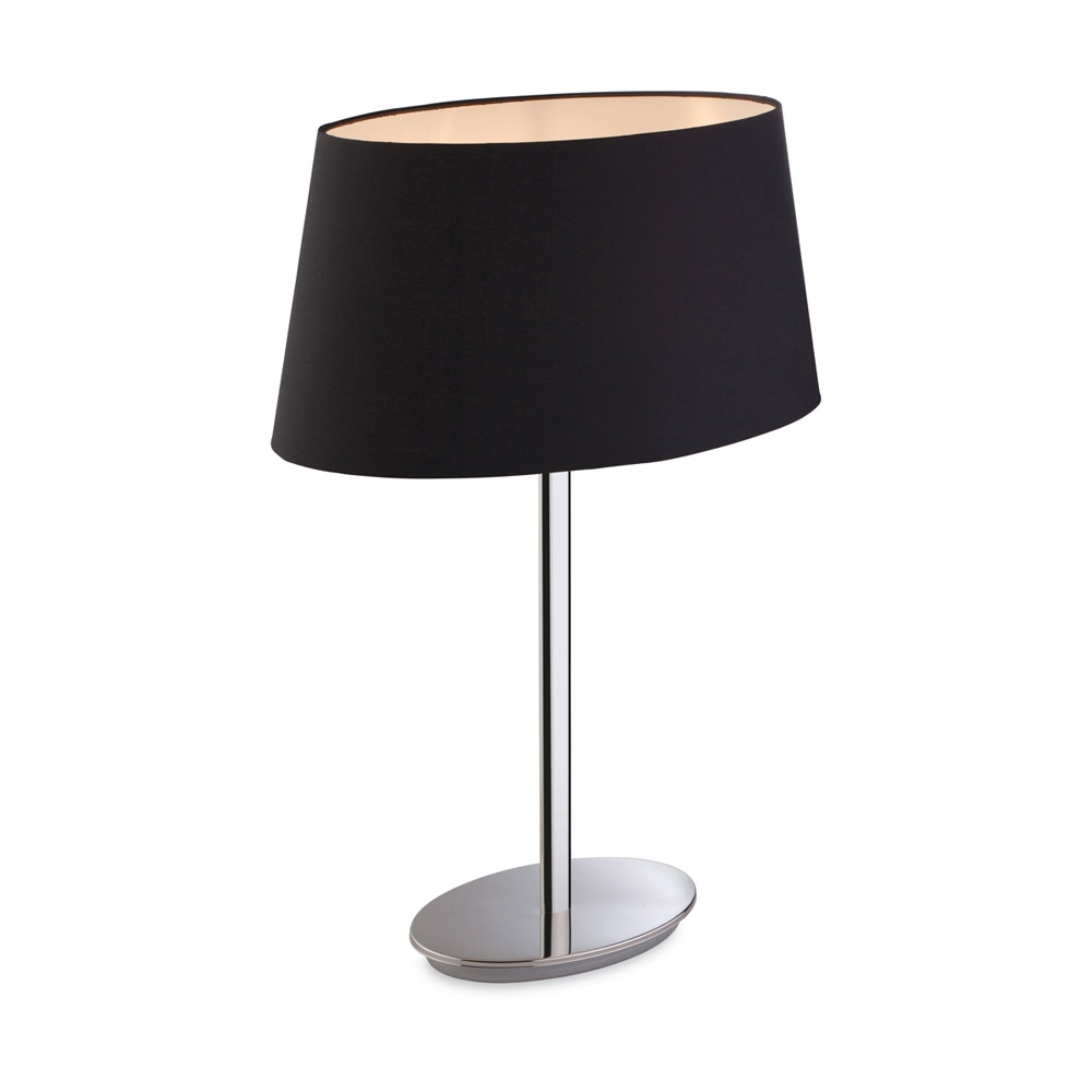 oval shade table lamp. Black Bedroom Furniture Sets. Home Design Ideas