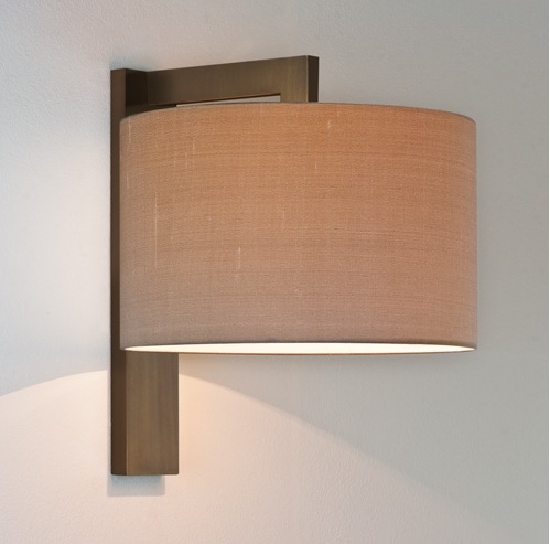 chunky framed bedside wall light