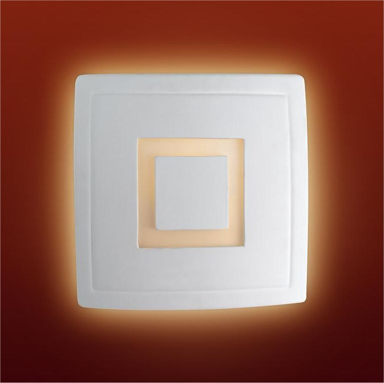 Square Ceramic Wall Lights : Chubby Square Ceramic Wall Light