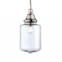 Clear Shaded Pendant with Chrome Detail