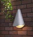 Conical Exterior Wall Light - Silver- Saving you �23.00