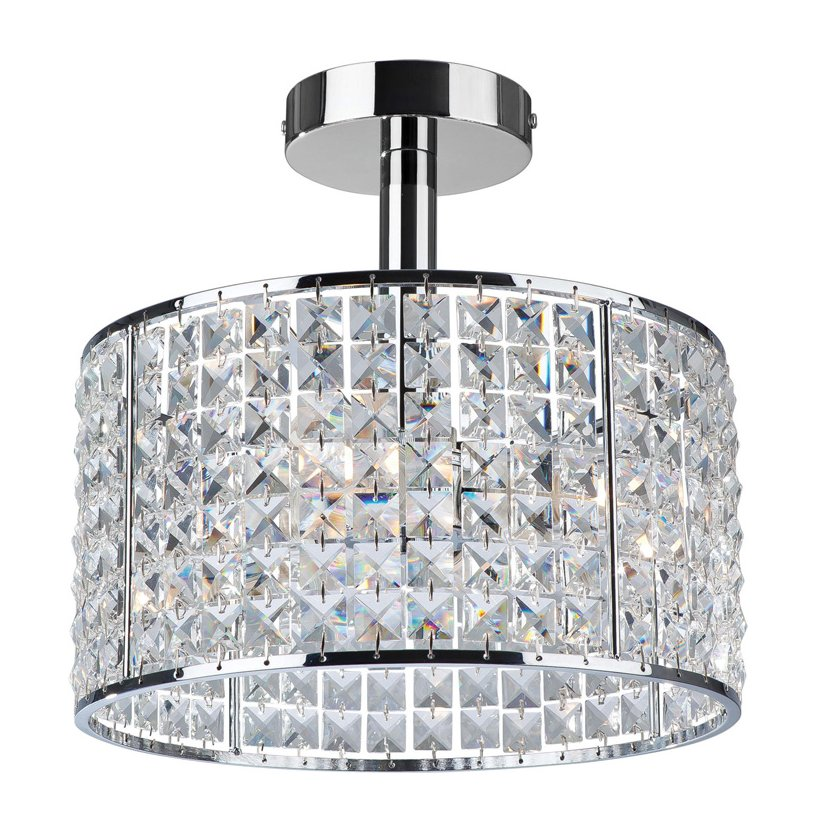 Bathroom lighting with crystals living rooms george crystal ceiling light for bathroom aloadofball Choice Image