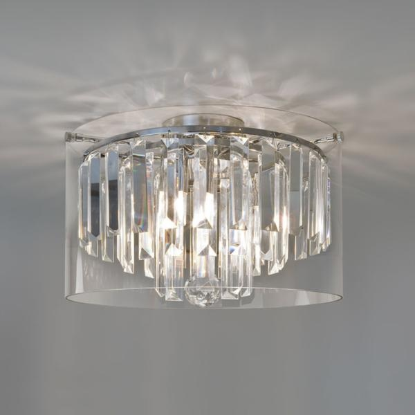 crystal glass droplets bathroom ceiling light