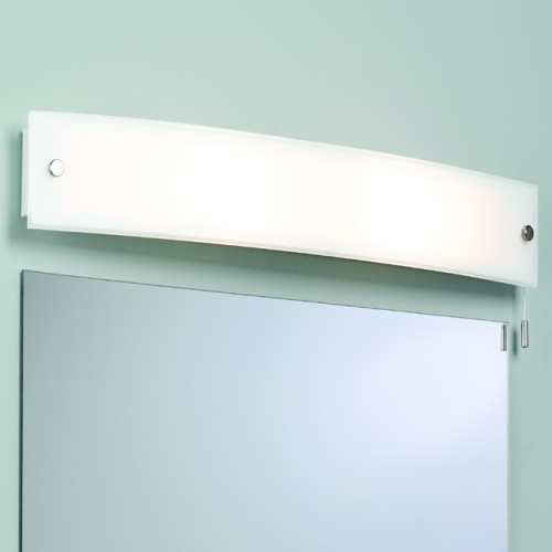 Curved wall light over mirror light for Over mirror bathroom lights