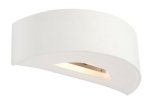 Soft Curved Plaster Wall Light - White