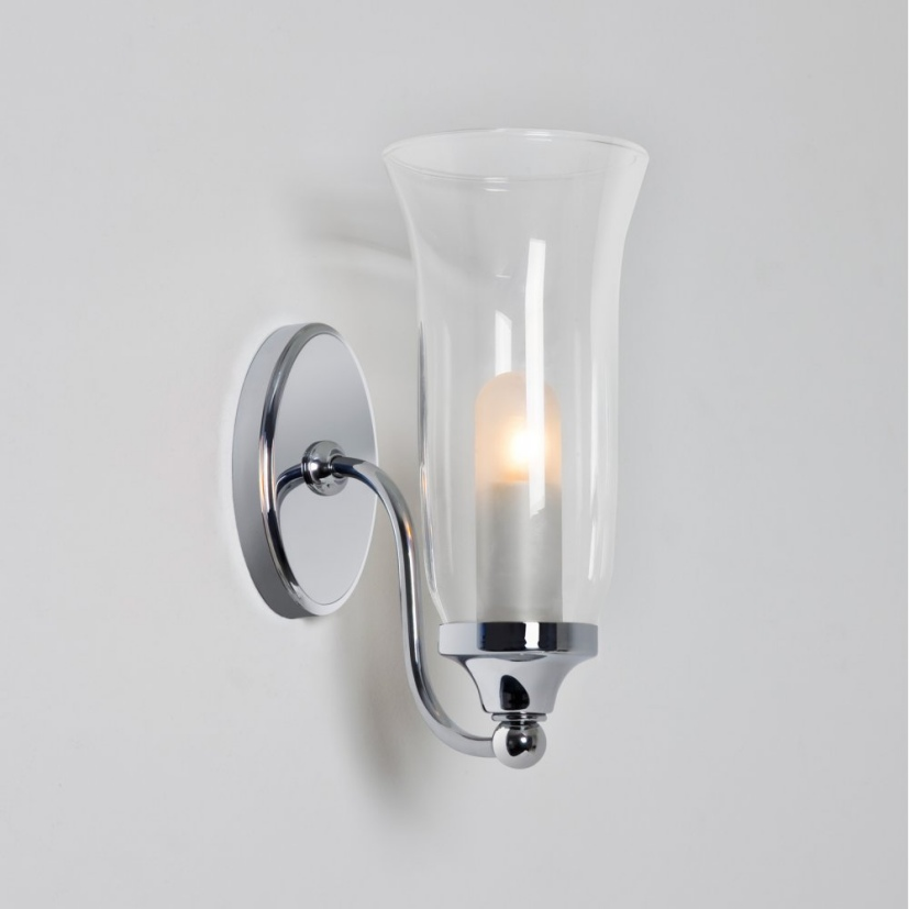 Patterned Glass Wall Lights : Fluted Glass Decorative Bathroom Wall Light