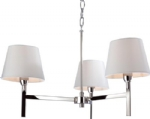 Delphis Chrome Chandelier with Cream Shades