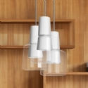 Glass LED Pendant - White or Cement Grey