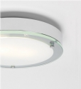 Flush Chrome Bathroom Light