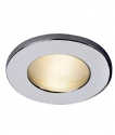 Chrome IP65 Frosted Glass Downlight - 12v