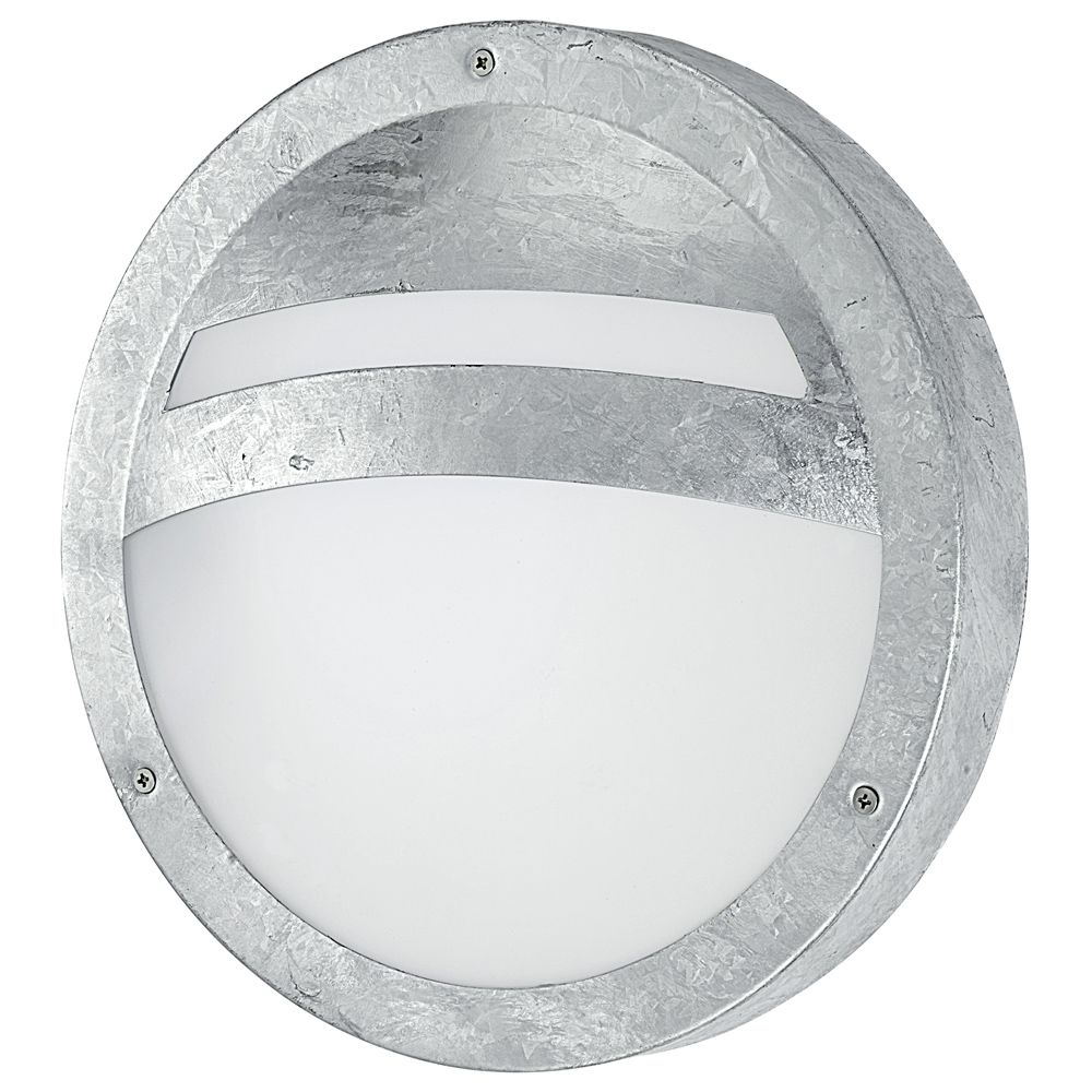 Galvanised bulkhead outdoor light for Applique murale exterieur globe