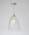 Clear Handblown Glass Shade Pendant