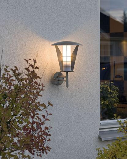 stylish stainless steel wall light