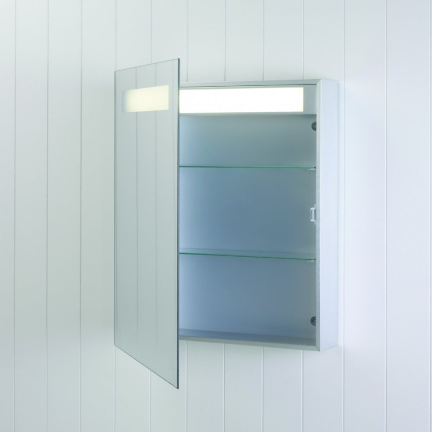 illuminated bathroom cabinet 700mm x 600mm