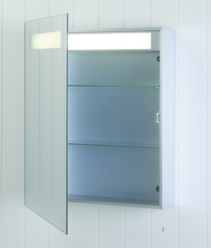 Illuminated Bathroom Cabinet - 700mm x 600mm