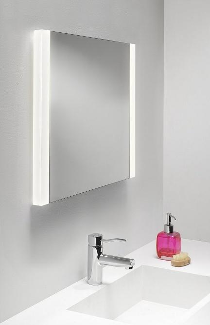 Bathroom Mirrors Illuminated: Twin Lamp Demister Pad Mirror H:610mm W:600mm