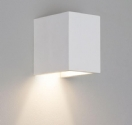 Square White Plaster Interior Wall Light