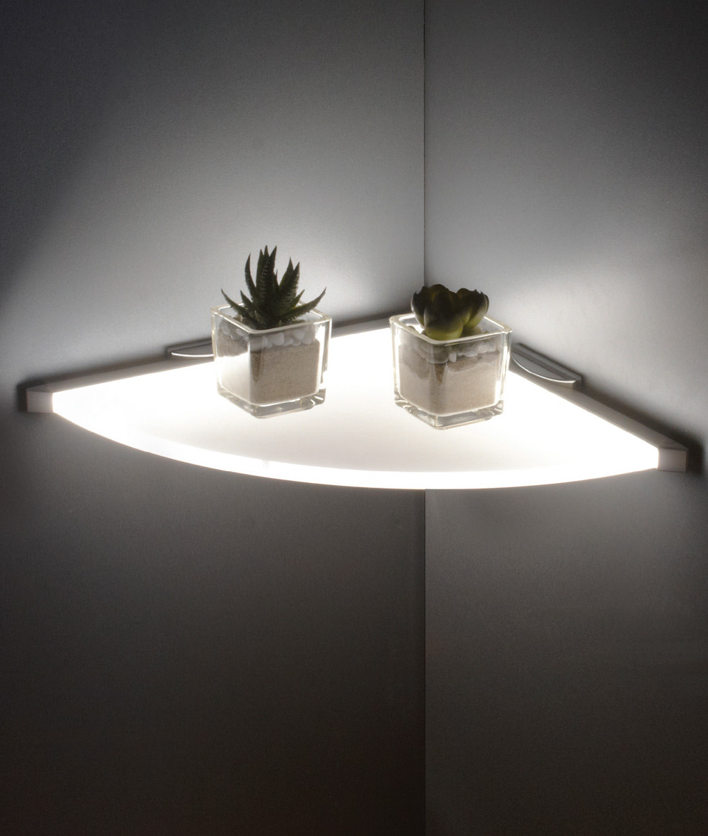 LED Illuminated Corner Shelf