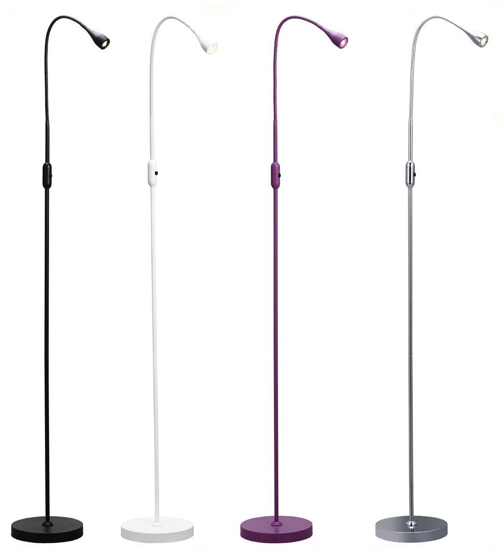 Led skinny minimalist reading lamp for Floor standing reading lamp uk