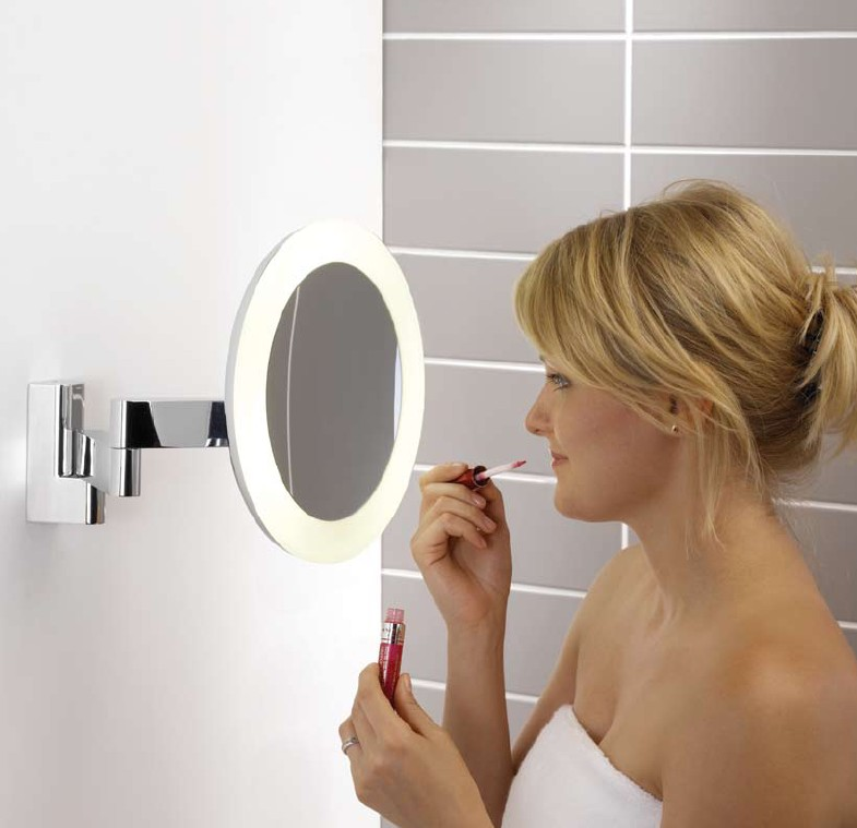 stylish round led vanity mirror d 250mm