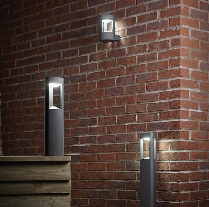 Matt Grey Led Exterior Wall Light