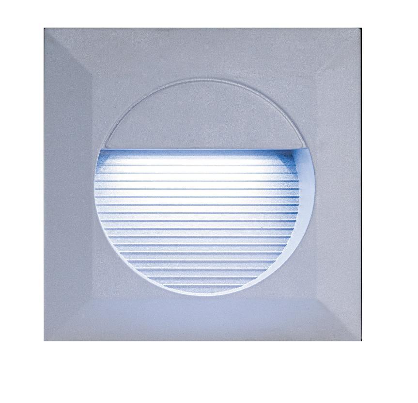 Grey Square LED Recessed Light White LEDs