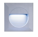 Grey Square LED Recessed Light - White LEDs