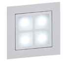 Silver and Frosted Glass LED Guide Light