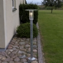 Galvanised Exterior Bollards E27 Lamp