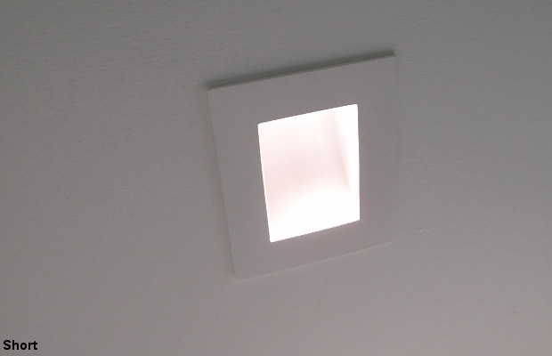 Semi Recessed Low Level Plaster Wall Light