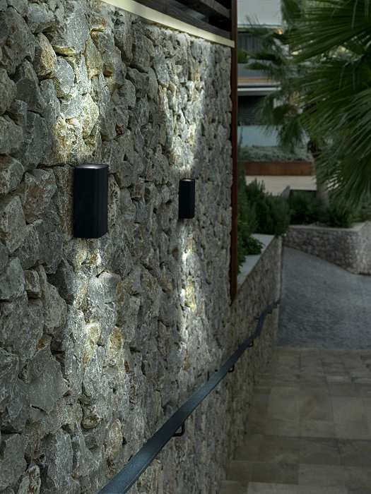 Outside Up And Down Led Wall Lights : LED Exterior Up and Down Wall Light
