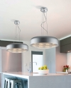 Chromed Metal LED Pendant �460mm
